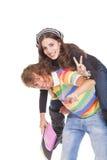 Les jeunes adolescents renvoient l'école Photos stock