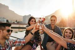 Les jeunes ayant le cocktail Photographie stock