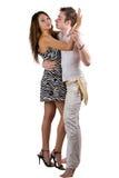 Les jeunes couples de beauté de danse Photo libre de droits