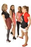 Les jeunes filles jouent sur la réception Photo stock