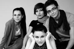 Les jeunes heureux photo libre de droits