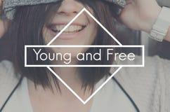 Les jeunes libèrent le concept d'adolescence de mode de vie de génération image stock