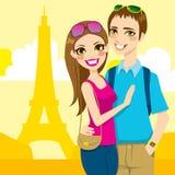 Voyage de lune de miel de Paris illustration stock