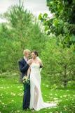 Les jeunes mariés Photographie stock libre de droits