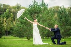 Les jeunes mariés Images libres de droits
