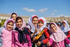 Les jeunes musulmans célèbrent l'arrêt de l'année universitaire Images libres de droits