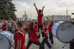 Les jeunes participent à la concurrence de danse Photographie stock libre de droits