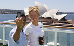 Les jeunes prenant la photo en Sidney Photo stock