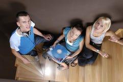 Les jeunes sur une réception Image libre de droits