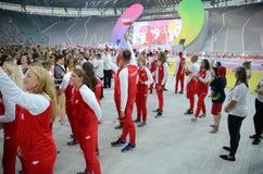 Les jeux 2017 du monde à Wroclaw, Pologne Images libres de droits