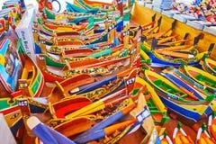 Les jouets de Marsaxlokk, Malte photographie stock libre de droits