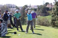 Les joueurs au golf d'Andalousie s'ouvrent, Marbella Images libres de droits