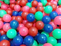 Les joueurs de bille ont germé dans beaucoup de combinaisons de couleurs Image stock