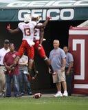 Les joueurs du Maryland sautent haut Image libre de droits