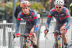 Les 4 jours de Dunkerque 2014 (competição automóvel do ciclo) Fotos de Stock Royalty Free