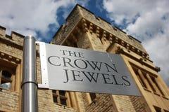 Les joyaux de la couronne de Londres Image libre de droits