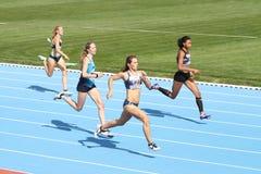 Les juniors d'athlétisme d'ECCC groupent A Photographie stock libre de droits