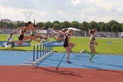 Les juniors d'athlétisme d'ECCC groupent A Images libres de droits