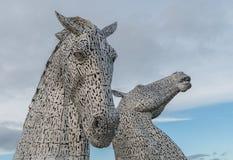 Les Kelpies Falkirk Ecosse Images libres de droits