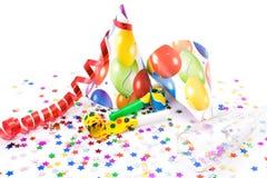 les klaxons de chapeaux party des sifflements Image stock
