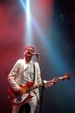 Les klaxons (groupe de rock indépendant de nouvel éloge) concertent au festival de BOBARD Image libre de droits
