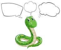 Les légendes vides et le serpent vert illustration libre de droits