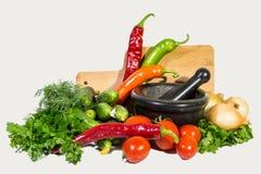 Les légumes d'isolement sur un fond blanc Photos stock