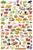 Les légumes fruits sains de consommation de collection de nourriture et de boissons portent des fruits Photographie stock libre de droits