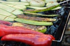 Les légumes grillent BBQ de marinade sain, dîner images libres de droits