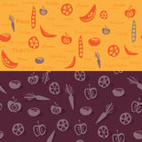 Les légumes modèlent et fond Illustration de Vecteur