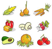Les légumes ont placé Image libre de droits