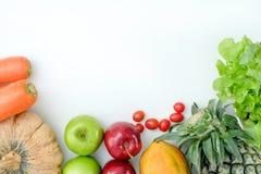 Les légumes savoureux frais de bas produits sains de glucides SUIVENT UN RÉGIME LE PLAN photo libre de droits