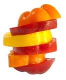 Les légumes serrent avec des parts de tomate et de poivre Photographie stock libre de droits
