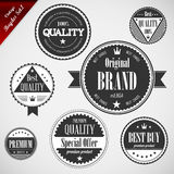 Labels de la meilleure qualité de qualité avec la rétro conception de cru illustration stock
