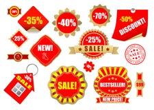 Les lables de vente ont placé 9 illustration stock