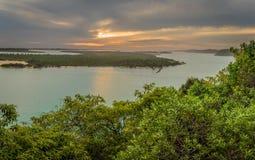 Les lacs ravissent dans la vue d'Australie de la surveillance de point de Jemmys Photographie stock