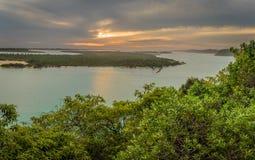 Les lacs ravissent dans la vue d'Australie de la surveillance de point de Jemmys Photos libres de droits