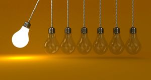 Les lampes Photo libre de droits
