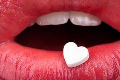 Les languettes de la femme rouge Images stock
