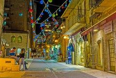 Les lanternes colorées Photo stock