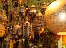 Les lanternes d'en cuivre de vintage Image libre de droits