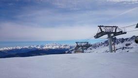 Les lantgårdar Ski Lift Arkivfoto