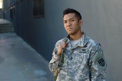 Les larmes des hommes U marin S Armée dans la peine Le désir ardent du soldat Amour de pays Tristesse pour les victimes Photos stock