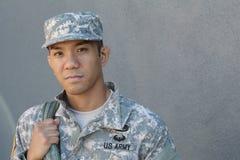 Les larmes des hommes U marin S Armée dans la peine Le désir ardent du soldat Amour de pays Tristesse pour les victimes Images libres de droits