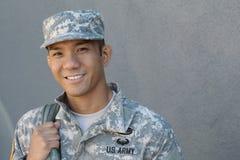 Les larmes des hommes U marin S Armée dans la peine Le désir ardent du soldat Amour de pays Tristesse pour les victimes Image stock
