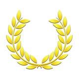 Les lauriers d'or tressent sur un fond blanc illustration libre de droits