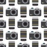 Les lentilles optiques plates de studio de vecteur de photo d'appareil-photo dactylographie le rétro professionnel objectif de ph Images stock