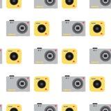Les lentilles optiques plates de studio de vecteur de photo d'appareil-photo dactylographie le rétro professionnel objectif de ph Photographie stock libre de droits