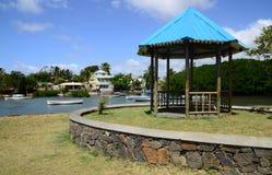 Les Îles Maurice, village pittoresque de Poudre d ou Image stock