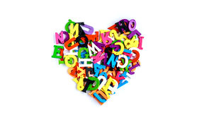 Les lettres d'alphabet apprennent pour commencer l'anglais Photo stock